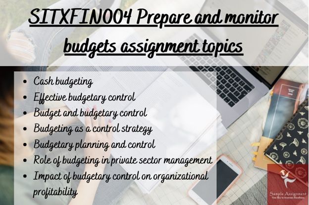 SITFIN004 prepare and monitor budgets assignment topics