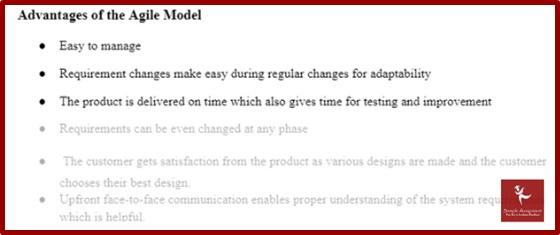 advantage of the agile model