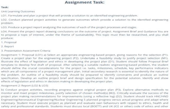 aeronautical engineering assignment help sample assignment task
