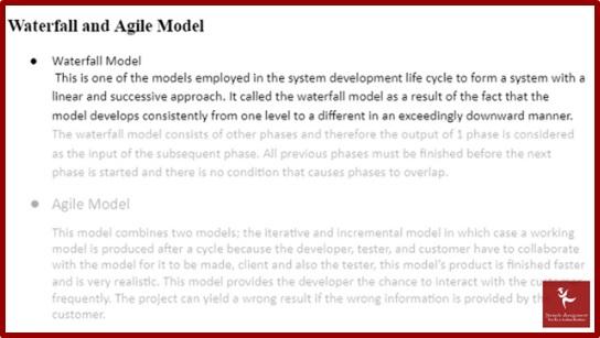 agile software development academic assistance through online tutoring sample