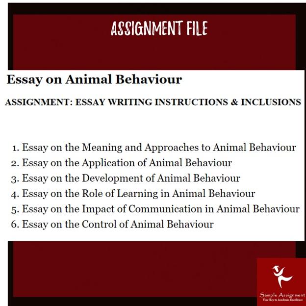 animal behavior assignment sample