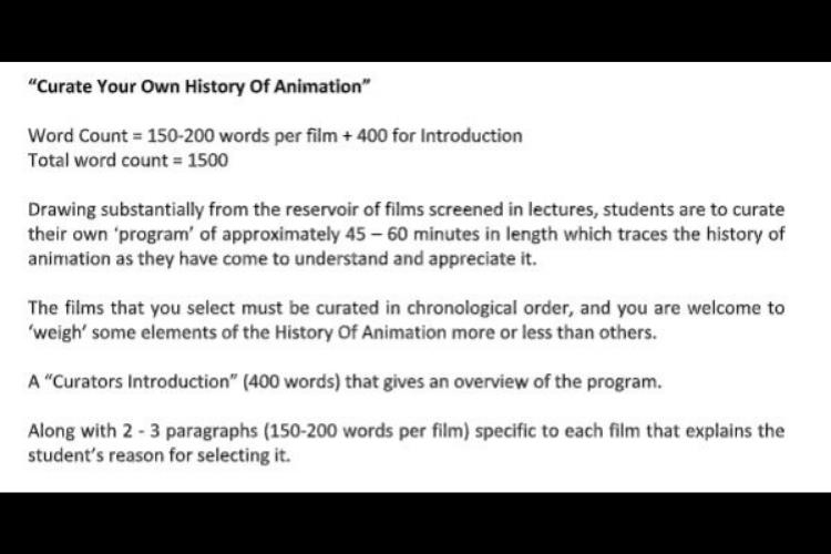 animation assignment help UK