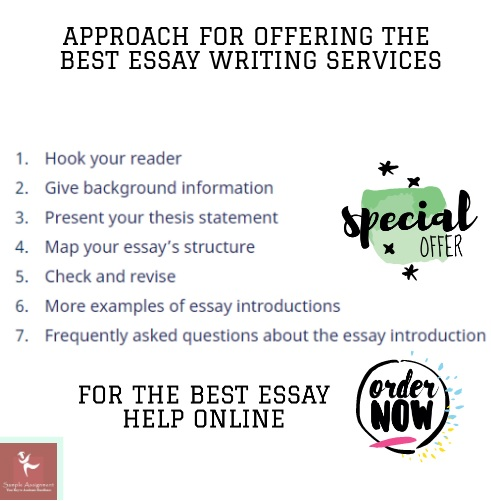 approach for offering the best essay writing services