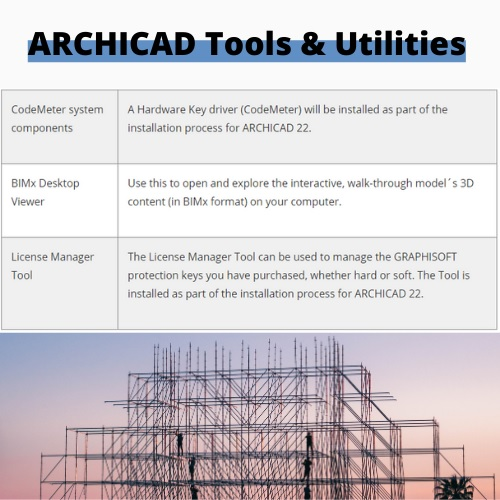 ArchiCAD tools and utilities