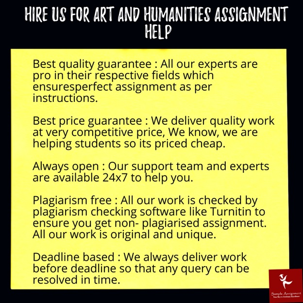 arts humanity assignment help service