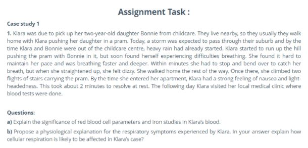 assignment task questions help on respiratory system