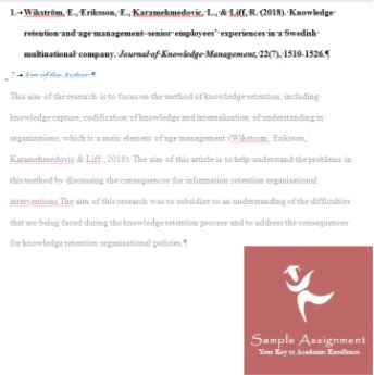 bibliography question answer sample UK