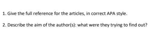 bibliography question-answer UK