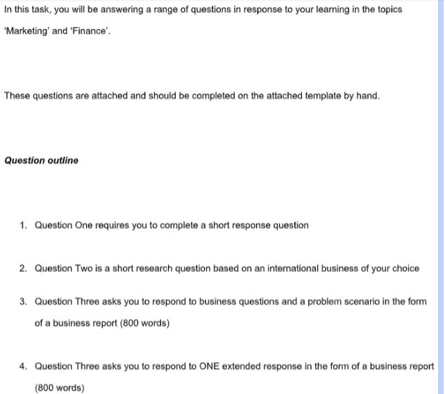 business studies coursework help sample questions