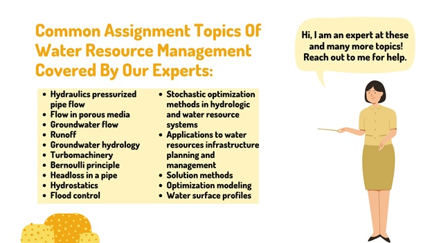 common assignment topics of water resource management covered by our experts
