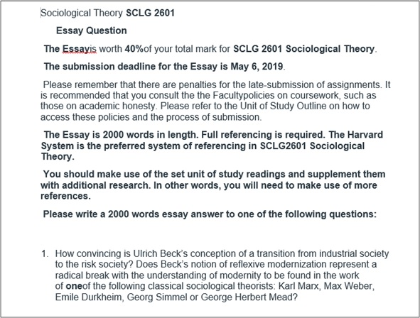 contemporary legacy assignment question