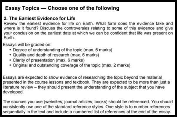 cosmology essay topics