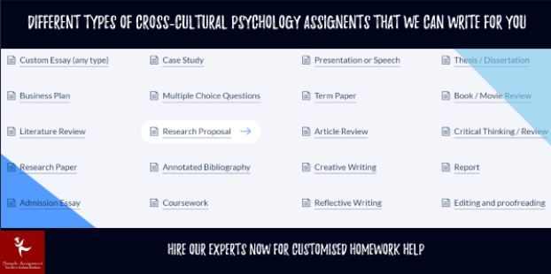cross cultural psychology assignment help experts australia