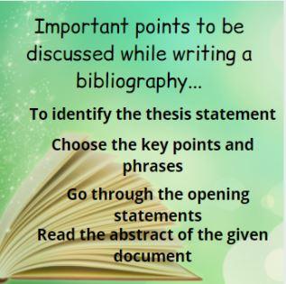 dissertation bibliography help UK