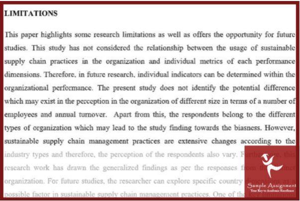 dissertation discussion sample 3 UK