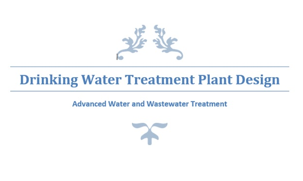 drinking water treatment plant design