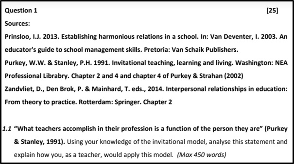 education secondary teaching assignmen help question