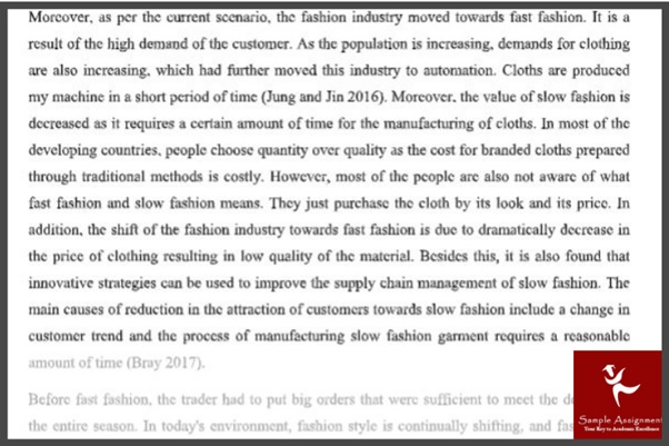 fashion management assignment example online