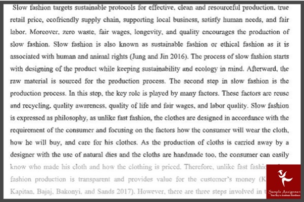 fashion management assignment example