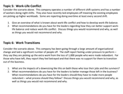 fatigue risk management assignment question sample