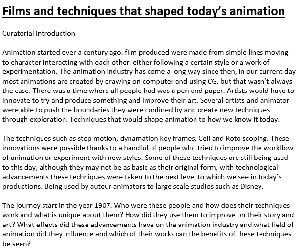 films and techniques that shaped today s animation