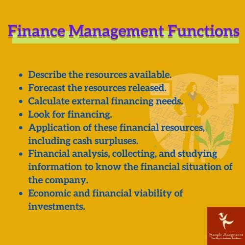 finance management functions