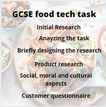 GCSE food tech coursework help