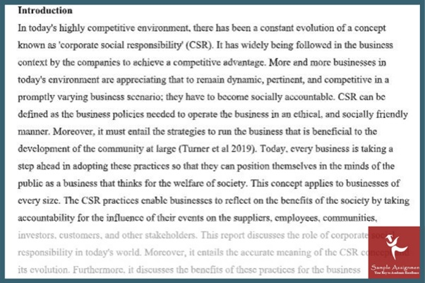 global business environment sample online