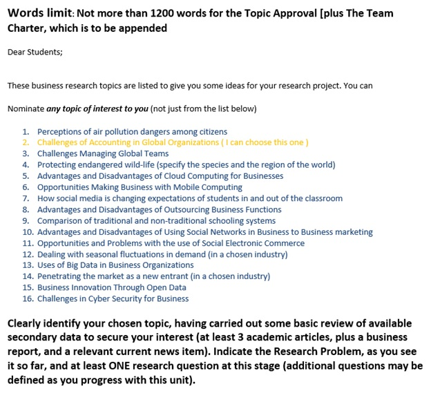 global teams managing assignment question