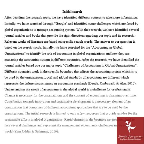 global teams managing assignment sample online