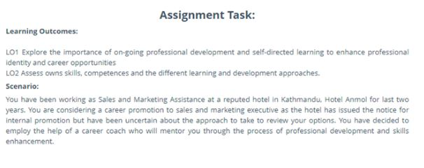 hnd assignment task canada