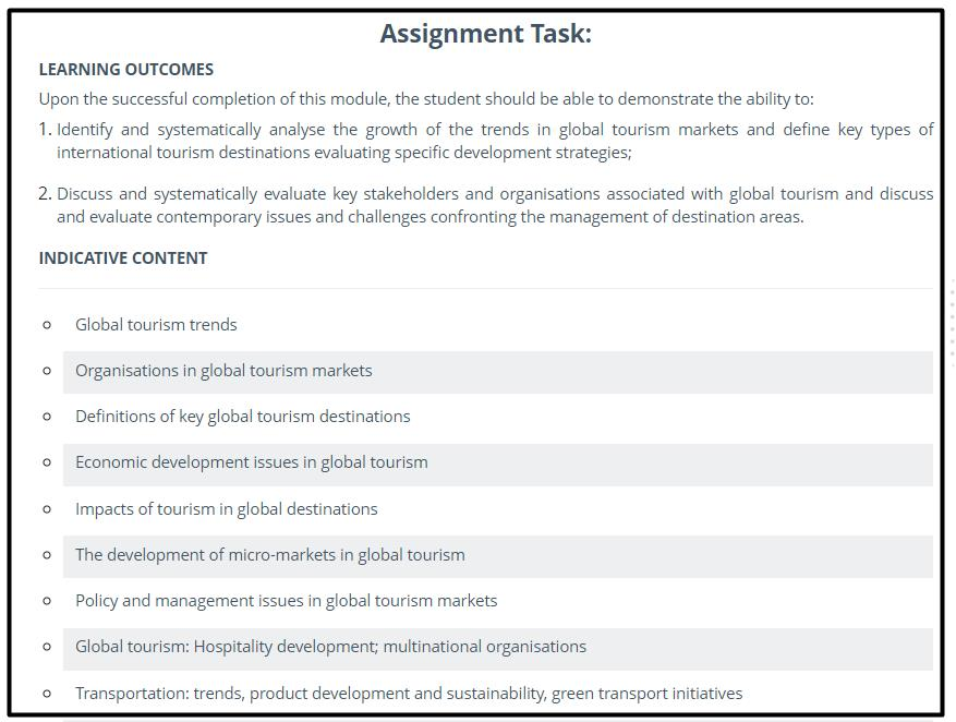 hospitality management assignment sample Canada
