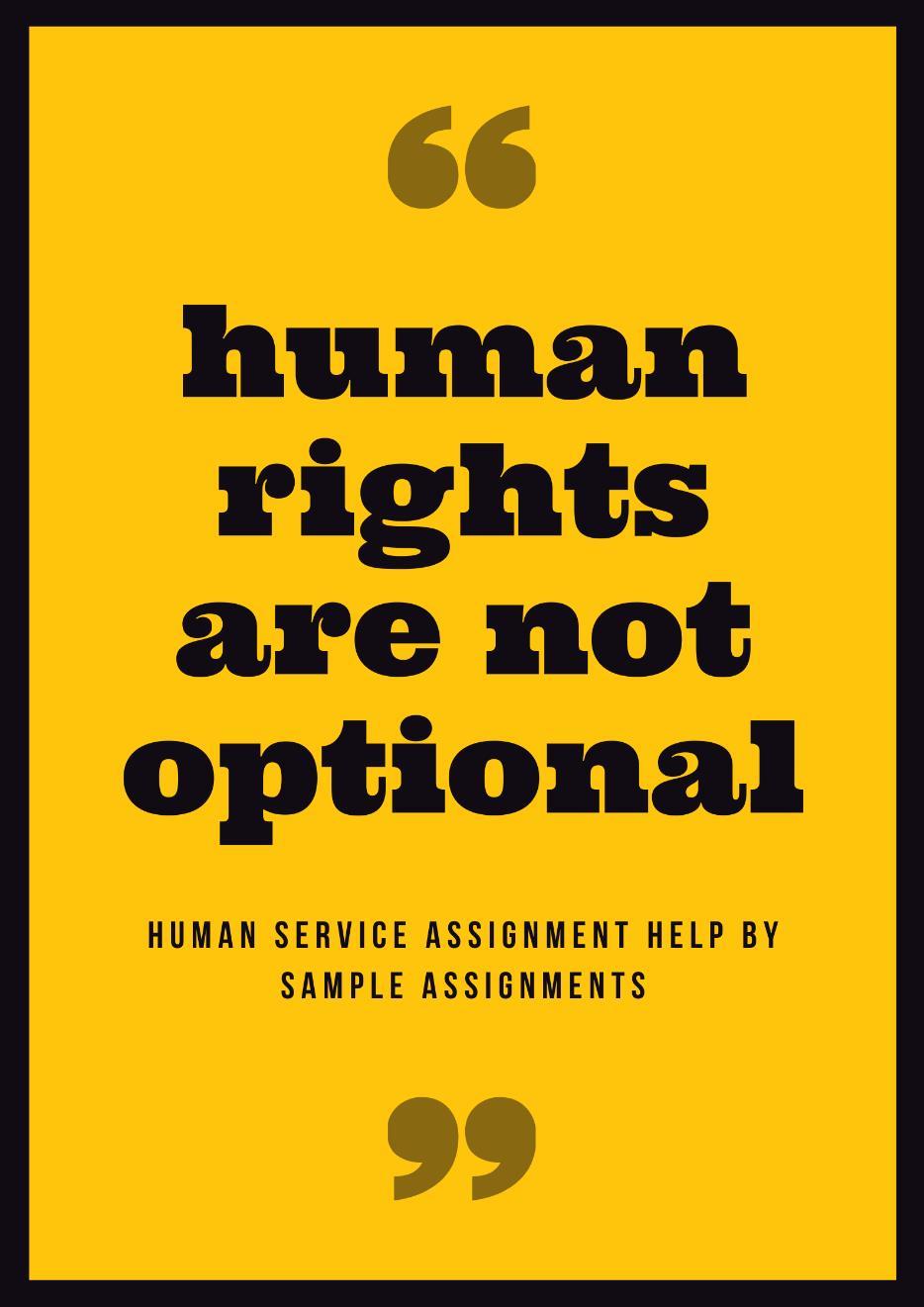 human service assignment help
