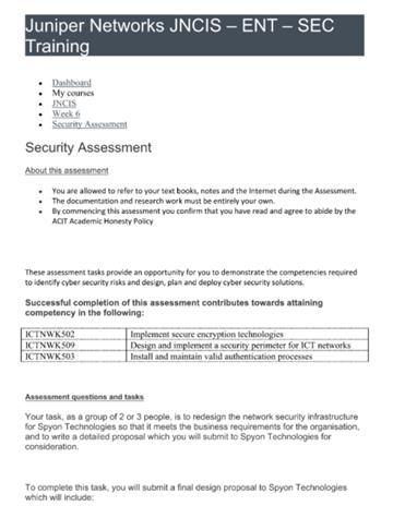 ICT assignment sample