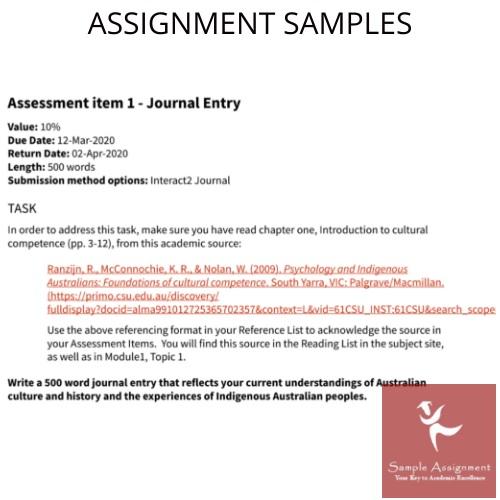 indigenous australian cultures assignment sample