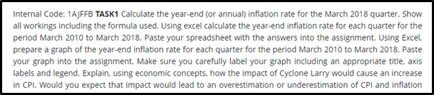 inflation assignment sample task