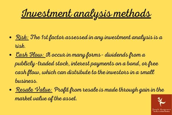 investment analysis methods