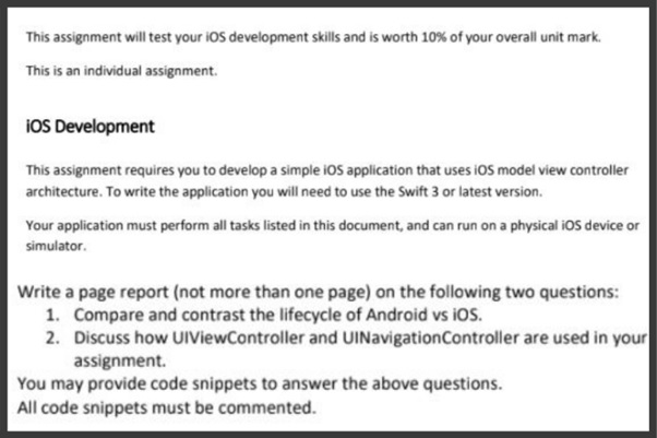 ios assignment solved by expert