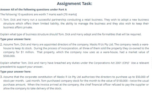 law school assignment task