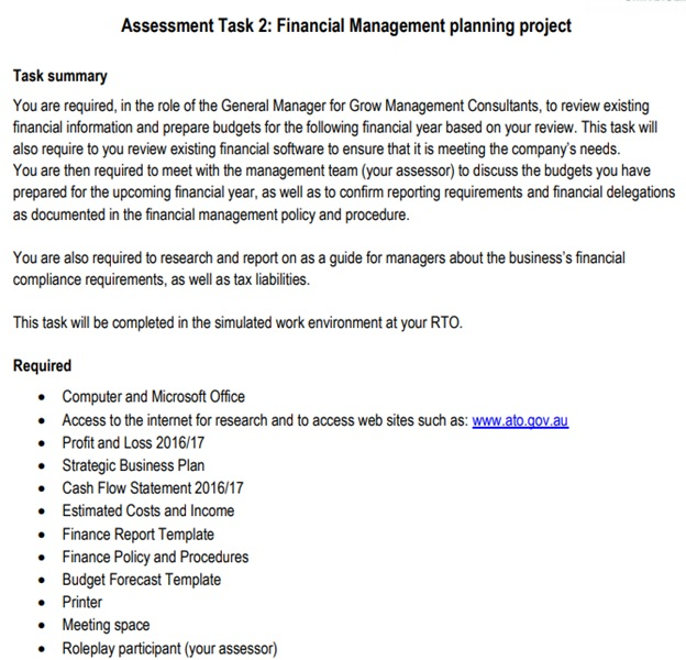 manage finances assignment question sample