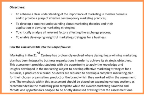 marketing environment analysis assignment question