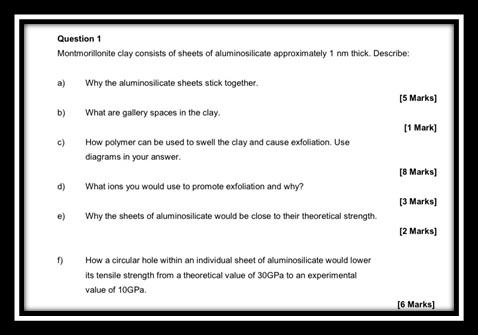 materials technology assignment question sample uk