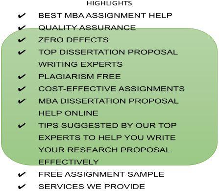 mba dissertation proposal help highlights