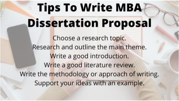 mba dissertation proposal help uk