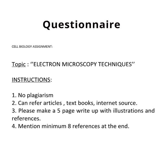 microscopy assignment help
