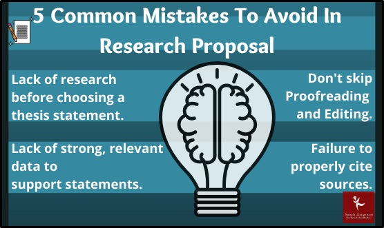 mistakes in researchp proposal