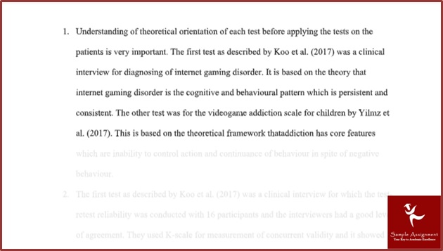 online clinical psychology assignment sample