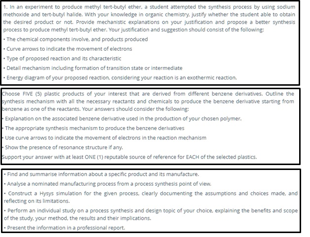 process synthesis and design homework help canada