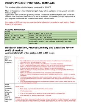 Project Proposal assignment question sample