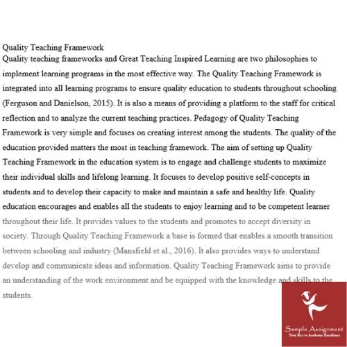 quality teaching framework